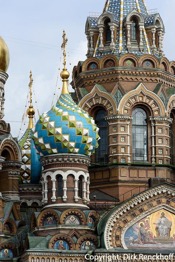 Bluterlöser-Kirche in St. Petersburg, Russland, UNESCO-Weltkulturerbe