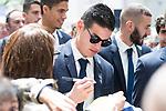 Real Madrid's James Rodriguez at Crystal Gallery of the Palacio de Cibeles in Madrid, May 22, 2017. Spain.<br /> (ALTERPHOTOS/BorjaB.Hojas)
