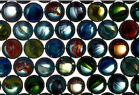 Pattern of marbles.