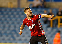 Ipswich Town's Luke Chambers celebrates the win during the Sky Bet Championship match between Millwall and Ipswich Town at The Den, London, England on 15 August 2017. Photo by Carlton Myrie.