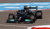 27th March 2021; Sakhir, Bahrain; F1 Grand Prix of Bahrain, Qualifying sessions;  44 HAMILTON Lewis (gbr), Mercedes AMG F1 GP W12 E Performance during Formula 1 Gulf Air Bahrain Grand Prix 2021 qualifying takes 2nd place