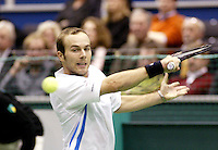 25-2-06, Netherlands, tennis, Rotterdam, ABNAMROWTT, Olivier Rochus in action against Jarkko Nieminen