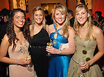 """Nicole Jawanmardi, Jordan Cane, Elizabeth Lishewski and Katie Decker at the San Luis Salute to """"The Italian Riviera"""" at the Galveston Island Convention Center at the San Luis Friday  Feb. 20, 2009.(Dave Rossman/For the Chronicle)"""