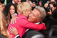 """Emma Thompson and Dustin Hoffman<br /> arriving for the London Film Festival 2017 screening of """"The Meyerowitz Stories"""" at the Embankment Gardens Cinema, London<br /> <br /> <br /> ©Ash Knotek  D3319  06/10/2017"""