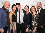 """Leland Wheeler and family during the Opening Night Celebration for """"Daniel's Husband"""" at the West Bank on October 28, 2018 in New York City."""