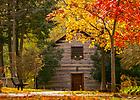 Log Chapel in fall..Photo by Matt Cashore
