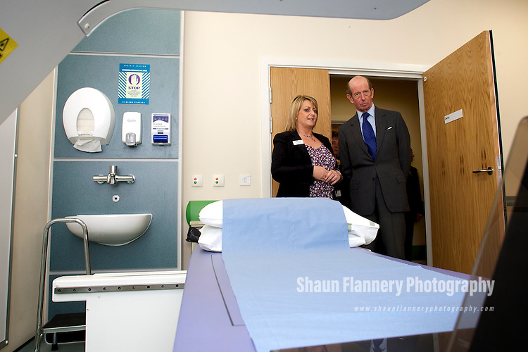 Pix: Shaun Flannery/shaunflanneryphotography.com...COPYRIGHT PICTURE>>SHAUN FLANNERY>01302-570814>>07778315553>>..24th February 2010............HRH The Duke of Kent officially opens the Rotherham Community Health Centre..Jo Hodgson, Service Manager, Diagnostic Centre in an X-ray room.