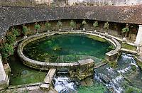 Europe/France/89/Bourgogne/Yonne/Tonnerre: La fosse Dionne - Bassin circulaire, jadis utilisé comme lavoir, alimenté par une source vauclusienne