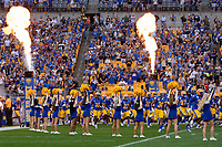 The Pitt Panthers football team takes the field for the first time in 2019. The Virginia Cavaliers defeated the Pitt Panthers 30-14 in a football game at Heinz Field, Pittsburgh, Pennsylvania on August 31, 2019.