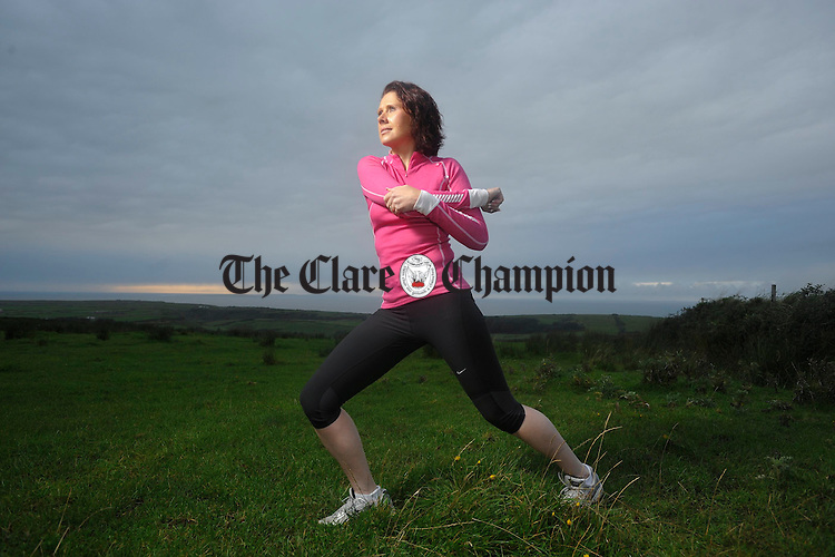 Joan Burke of Lisdoonvarna, who is an aesthmatic is in training for the Chicago marathon. Photograph  by John Kelly.
