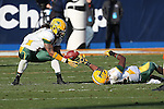 North Dakota State Bison cornerback Bryan Shepherd (24) and North Dakota State Bison cornerback Andre' Martin Jr. (8) in action during the FCS Championship game between the North Dakota State Bison and the Sam Houston State Bearkats at the FC Dallas Stadium in Frisco, Texas. North Dakota defeats Sam Houston 39 to 13..
