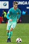 FC Barcelona's Denis Suarez in action during the match of Copa del Rey between Atletico de  Madrid and Futbol Club Barcelona at Vicente Calderon Stadium in Madrid, Spain. February 1st 2017. (ALTERPHOTOS/Rodrigo Jimenez)