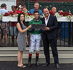 08182021: #9 Chi Town Lady ridden by John Velazquez trained by M.A. Ward wins the Bolton Landing at Saratoga Race Course<br /> Robert Simmons/Eclipse Sportswire