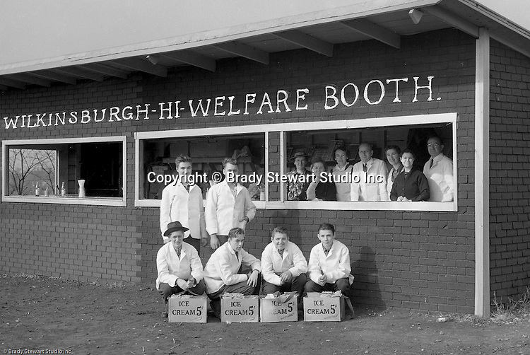Wilkinsburg PA:  View of the volunteers and students working the concession stand at the Wilkinsburg High School football game.  Brady Jr. played in the Wilkinsburg Marching Band
