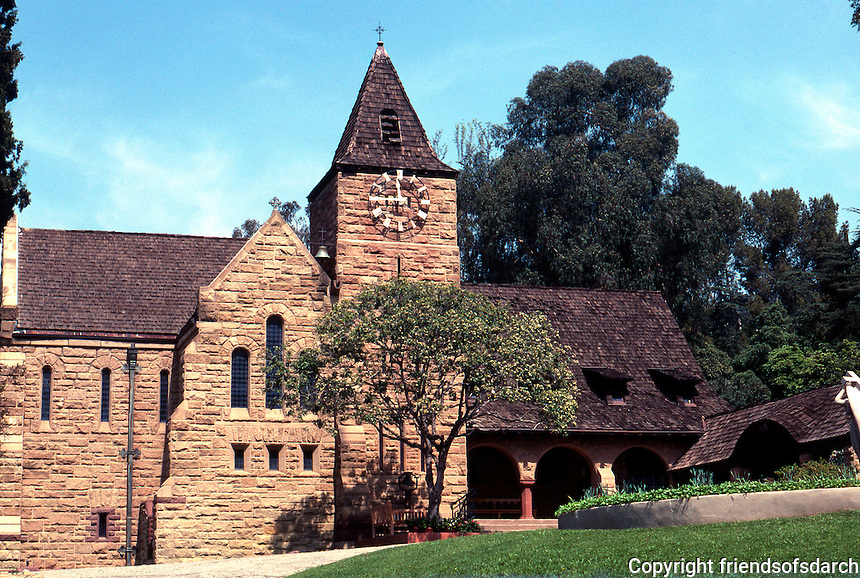 Church of the Angels, 1889. Pasadena CA. 1100 Avenue 64. Arthur Edmund Street; Ernest A. Coxhead. Photo '89.