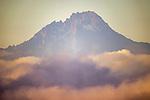 Kenya, Chyulu Hills National Park, Mawenzi cone of Mount Kilimanjaro