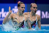 BLECHER Eden / BOBRITSKY Shelly ISR <br /> DUET FREE Final <br /> Artistic Swimming<br /> Budapest  - Hungary  14/5/2021<br /> Duna Arena<br /> XXXV LEN European Aquatic Championships<br /> Photo Andrea Staccioli / Deepbluemedia / Insidefoto