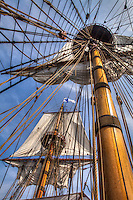 The Kalmar Nyckel was a Dutch armed merchant ship that carried Swedish settlers to North America in 1638 to establish the Colony of New Sweden. This replica of that ship was launched at Wilmington, DE in 1997