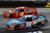 #18: Kyle Busch, Joe Gibbs Racing, Toyota Camry NOS Energy Drink, #4: Ross Chastain, JD Motorsports, Chevrolet Camaro Flex Seal