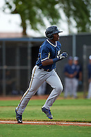 Milwaukee Brewers Troy Stokes (28) during an instructional league game against the San Diego Padres on October 6, 2015 at the Peoria Sports Complex in Peoria, Arizona.  (Mike Janes/Four Seam Images)