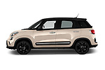 Car Driver side profile view of a 2016 Fiat 500L Trekking 5 Door Mini MPV Side View