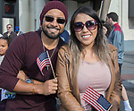 Edgar and Maggie during the Veterans Day Parade in downtown Reno on Saturday, Nov. 11, 2017.