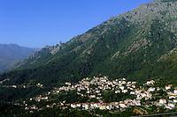 Blick auf Venaco, Korsika, Frankreich