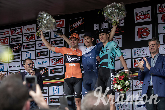 podium:<br /> <br /> 1st place: Emils Liepins (LTV/One Pro Cycling)<br /> 2nd place: Wouter Wippert (NED/Roompot Nederlandse Loterij)<br /> 3th place: Aksel Nommela (EST/Beat Cycling Club)<br /> <br /> <br /> 11th Heistse Pijl 2018<br /> Turnhout > Heist-op-den Berg 194km (BEL)