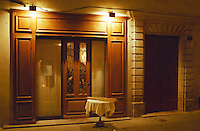 An elegant restaurant in Nimes called Le Huis Clos (for closed doors). Nimes, Gard, Provence, France, Europe
