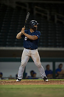 AZL Brewers catcher Caleb Marquez (57) at bat during an Arizona League game against the AZL Cubs 1 at Sloan Park on June 29, 2018 in Mesa, Arizona. The AZL Cubs 1 defeated the AZL Brewers 7-1. (Zachary Lucy/Four Seam Images)