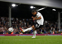 21st September 2021; Craven Cottage, Fulham, London, England; EFL Cup Football Fulham versus Leeds; Bobby Reid of Fulham taking a penalty during the penalty shootout