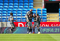 12th September 2020; Cardiff City Stadium, Cardiff, Glamorgan, Wales; English Championship Football, Cardiff City versus Sheffield Wednesday; Jordan Rhodes of Sheffield Wednesday celebrates after scoring his sides second goal in the 44th minute