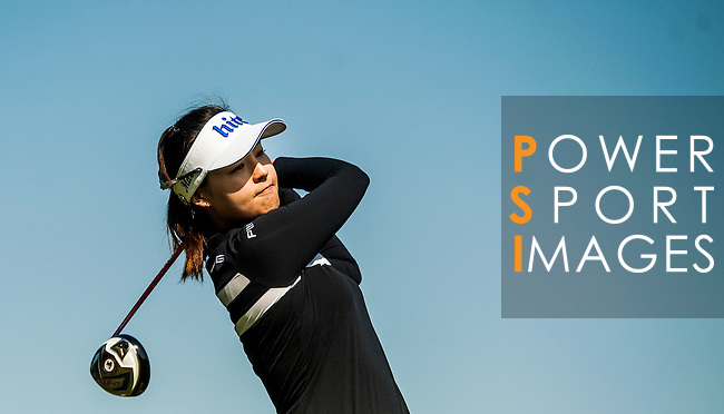 In-Gee Chun of Korea in action during the Hyundai China Ladies Open 2014 at World Cup Course in Mission Hills Shenzhen on December 14 2014, in Shenzhen, China. Photo by Xaume Olleros / Power Sport Images