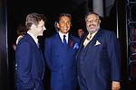 MICHAIL  BARISNIKOV CON GIANFRANCO FERRE' E VALENTINO GARAVANI<br /> AMFAR FOUNDATION CHARITY GALA PALAZZO VOLPI VENEZIA 1993