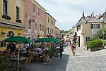 Austria, Lower Austria, UNESCO World Heritage Wachau, Melk: Old Town with cafes at Main Street