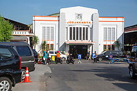 Yogyakarta, Java, Indonesia.  Main Railway Station.