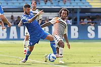 Patrick Cutrone of Empoli FC and Gianluca Busio of Venezia FC compete for the ball during the Serie A football match between Empoli FC  and Venezia FC at Carlo Castellani stadium in Empoli (Italy), September 11th, 2021. Photo Paolo Nucci / Insidefoto