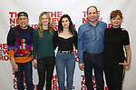 """Nico Santos, Marin Ireland, Tedra Millan, Daniel Oreskes and Susan Sarandon attends the first day of rehearsal for the New Group's production of """"Happy Talk"""" at The New 42nd Street Studios on April 1, 2019 in New York City."""