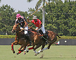 WELLINGTON, FL - MARCH 12:  Tomas Pieres of Audi (Red jersey) attempts to hook Polito Pieres of Orchard Hill's shot as Orchard Hill defeats Audi 9-8, in the early rounds of the 26 goal USPA Gold Cup at the International Polo Club, Palm Beach on March 12, 2017 in Wellington, Florida. (Photo by Liz Lamont/Eclipse Sportswire/Getty Images)