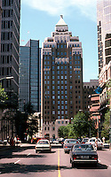 Vancouver: Marine Building, elevation. McCarter & Nairn, 1929-30. 355 Burrard St. looking down Hastings.