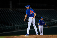 AZL Cubs 1 relief pitcher Chris Kachmar (82) during an Arizona League game against the AZL Royals on June 30, 2019 at Sloan Park in Mesa, Arizona. AZL Royals defeated the AZL Cubs 1 9-5. (Zachary Lucy/Four Seam Images)