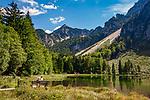 Deutschland, Bayern, Inzell-Adlgass: Frillensee vor dem Chiemgauer Alpen | Germany, Bavaria, Inzell-Adlgass: lake Frillensee with Chiemgau Alps
