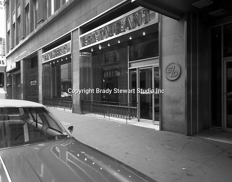 Pittsburgh PA:  Exterior view of Palmer's Restaurant on Smithfield Street.