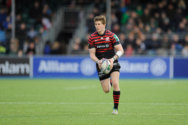 David Strettle of Saracens in action during the Heineken Cup Round 6 match between Saracens and Connacht Rugby at Allianz Park on Saturday 18th January 2014 (Photo by Rob Munro)