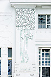 Europe, Austria, Vienna, Secession Hall Detail (Wiener Secessionsgebäude) designed by Joseph Maria Obrich in 1897.  Famous example of secession style art nouveau architecture