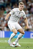 Real Madrid's Toni Kroos during XXXVI Santiago Bernabeu Trophy. August 18,2015. (ALTERPHOTOS/Acero)