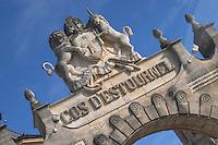 Chateau Cos d'Estournel portico, Saint Estephe. Medoc, Bordeaux, France