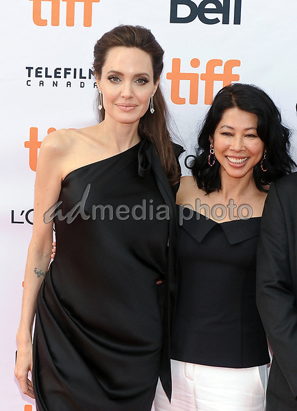 """11 September 2017 - Toronto, Ontario Canada - Loung Ung, Angelina Jolie. 2017 Toronto International Film Festival - """"First They Killed My Father"""" Premiere held at Princess of Wales Theatre. Photo Credit: Brent Perniac/AdMedia"""
