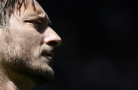 Calcio, Serie A: Roma, stadio Olimpico, 30 aprile 2017.<br /> AS Roma's Francesco Totti warms up during the Italian Serie A football match between AS Roma an Lazio at Rome's Olympic stadium, April 30 2017.<br /> UPDATE IMAGES PRESS/Isabella Bonotto