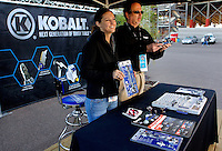 Kobalt branding coverage of the NASCAR Sprint Cup Series Kobalt Tools 500 at Phoenix International Raceway on November 14, 2010 in Avondale, Arizona.